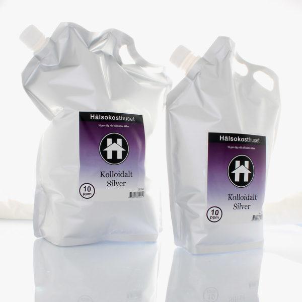 Kolloidalt silver 10ppm 2,5 liter bag
